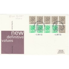 1983 New Definitive £1.46 Right  Booklet  Pane with 6x 16p,4 x 12½p
