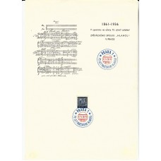 1936 CZECHOSLOVAKIA  Music page with Special Stamp & Postmark.  17 V 36 - 18
