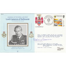 MRAF Lord Cameron of Balhousie, Signed by Lady Cameron of Balhousie.