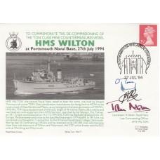 HMS Wilton 27 Jul 94 Decommissioning of HMS Wilton  signed 4