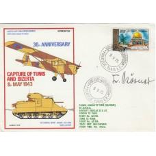 30th Anniv of the capture of Tunis and Bizerta. Signed  F. Korner, Luftwaffe Pi