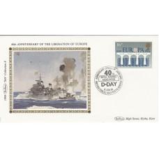 1984 Benham Small Silk Cover, 40th Anniversary of the Liberation of Europe  6 Ju