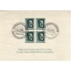1937 Hitler's Culture Fund & 48th Birthday  Miniature sheet ( Berchtesgaden )