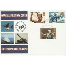 1972 General Anniversaries Full Set  Official FDC British Forces Post Service