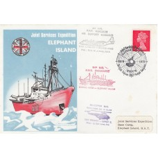 1970 Elephant Island Expedition to Elephant Island Signed  Flown Expedition Lead