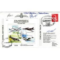 50th Anniv Flugptatz Guterslohsigned 4 Pilots & Karl Tettleback Luftwaffe Pilot