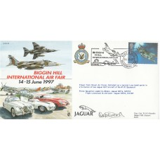 JS(CC)26b Biggin Hill - International Air Fair Flown in Jaguar Pilot Signed.
