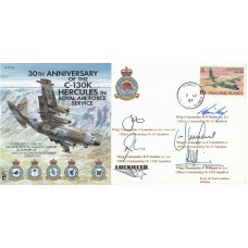 0th Anniv .of the C -130K Hercules in RAF Signed by 5 Officer Commandings