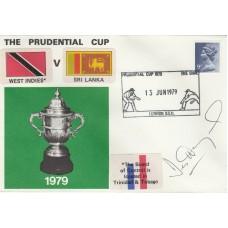1979 Prudential Cup West Indies v Sri Lanka. Signed Desmond Hayes  West Indian