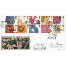 Benham1997  FDC Flower Drawings Full Set Signed by Alan Bloom MBE VMH