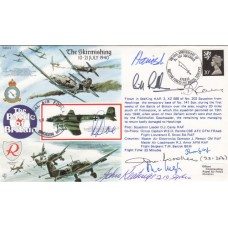 RAFA2 The Skirmishing Battle of Britain Signed by 7 Battle of Britain Pilots