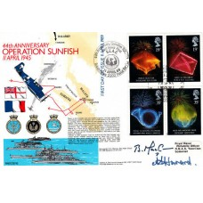 44th Anniversary of Operation Sunfish.Full Set Stamps Double Signed FDC