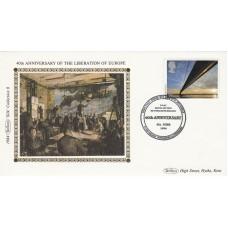 1984 Benham Small Silk Cover, 40th Anniversary of the Liberation of Europe