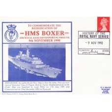 HMS Boxer  To Commemorate the Rededication of HMS Boxer.
