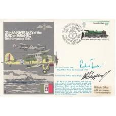 35th Anniv of the Raid on Taranto Signed  Richard Javrin Air Crew Taranto & She