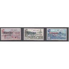 Hern Island Europa 18 Sept 1961 Overprinted Stamps 3d,6d 1/6 Mint