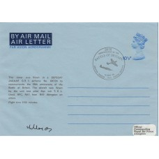 HA29 RAF Museum Air Letter 38th Anni of the Battle of Britain Pilot Signed