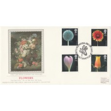 Sotheby's FDC Flowers 1987  With Full Set Flower  Stamps