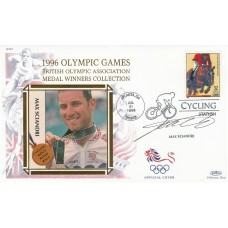 1996 Olympic  Games. Silk Cachet of Max Sciandri Signed by Max Sciandri