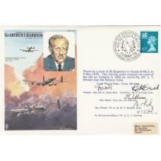 HA4bD MRAF  Sir Arthur Harris Marshall Flown in Vulcan Signed by  5 Vulcan Crew
