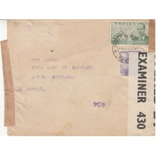 1940 Spain WW2 Cover with with 2 Different Censor Examiner