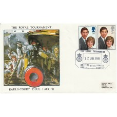 1981 Royal Tournement on Royal Wedding Stamps Official BFPS Mill Hill FDC