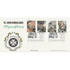 1987 St John Ambulance Stamps Official FDC Full Set St John Ambulance Stamps