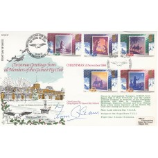 1988 RAF FDC Christmas Signed T Gleave Battle of Britain Pilot