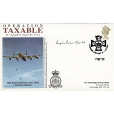 Operation Taxable Signed H Evans DFC  wireless operator 617 Sqn