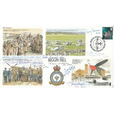 RAFS1 RAF Biggin Hill Signed by 9 Battle of Britain Pilots , Crew WAAF