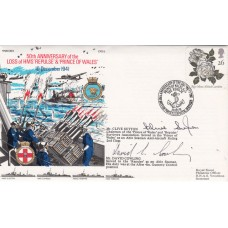 50th Anniv Loss of HMS Replulse & Princes of Wales. Signed 2 Survivors