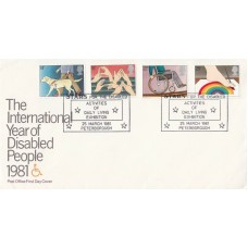1981 International Year of Disabled People Full Set Stars Special Postmark FDC