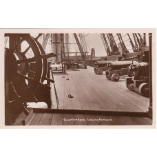Post Card British Manufacture of Nelson  Quarterdeck  looking forward
