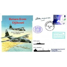 Return from Djibouti 1986 Signed Arthur Marshall OBE British Ambassador Aden