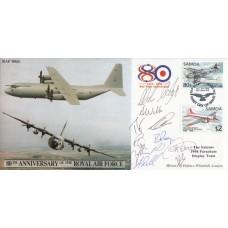 10th Anniv of the RAF Air Transport. Flown  Hercules signed  Falcons Parachute D