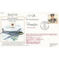 RV21c HRH Princess Margaret to Broughton House.Flown  Special Double Signed
