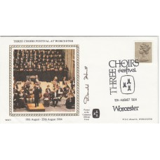 1984 Three Choirs Festival at Worcester Signed Donald Hunt.