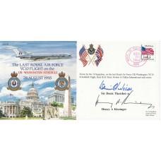 (CC)8  Last RAF  VC 10 Flight UK - Washington Signed D Thatcher & H A Kissinger