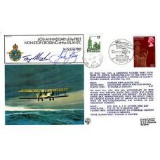 14 June 1979 BFPS 1643  60th Anniv. of 1st Non - stop crossing of Atlantic Flown