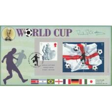 Covercraft 2002 World Cup Miniature sheet Signed Mick McCarthy