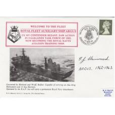 RNCC29 RFAS Argus Joins the Fleet.signed F G Harwood on HMS Argus 1942 - 43.