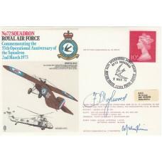 RAF10c  72 Sqn 55th Operational Anniv Signed AVM Hazlewood & OC 72 Sqn