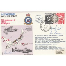 RAF33d No 57 Sqn Royal Air Force Signed 3 Air Marshal's Beetham,Broom,Gigging.