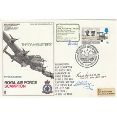RAF Scampton 617 Sqn  Dam Busters Signed both Pilots & Les Munro Dams Pilot