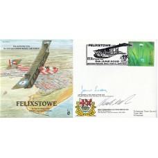 P&P23d  Felixstowe-No.230 Sqdn. Flown  Special Double Signed