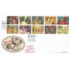 Benham FDC Kilgetty Dyfed Special Postmark Full Set 10 Greetings Stamps.