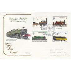 1975 Dart Valley Railway FDC  1st public Steam Railway set of 4 stamps