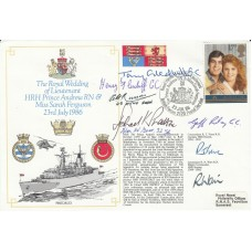 Royal Wedding Andrew & Ferguson Signed by 2 Signed Plus 5 GC Holders & 1 Bof B