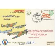 AD14c The Spitfires RAFA Goodwood Display Goodwood Flown Spitfire Signed Pilot