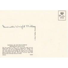Postcard  'Vin Fiz' Signed Mrs Ivonette Wright - Miller Orville Wright  niece